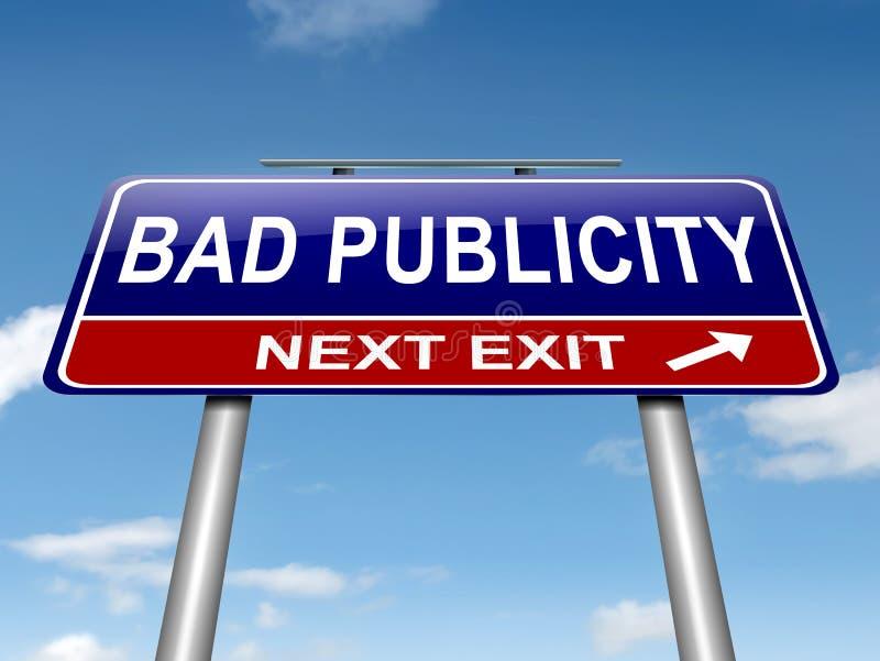 Κακή έννοια δημοσιότητας. ελεύθερη απεικόνιση δικαιώματος
