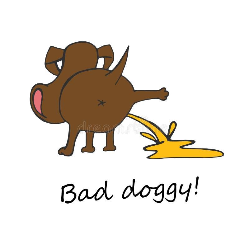 Κακή εικόνα σκυλακιών ελεύθερη απεικόνιση δικαιώματος