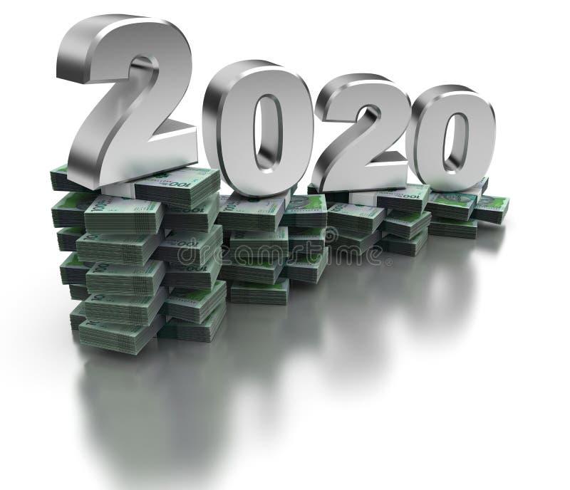 Κακή οικονομία 2020 της Κολομβίας διανυσματική απεικόνιση