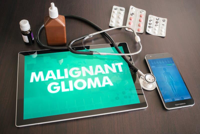 Κακοήθης ιατρική έννοια διαγνώσεων glioma (τύπος καρκίνου) στο tabl στοκ φωτογραφία με δικαίωμα ελεύθερης χρήσης