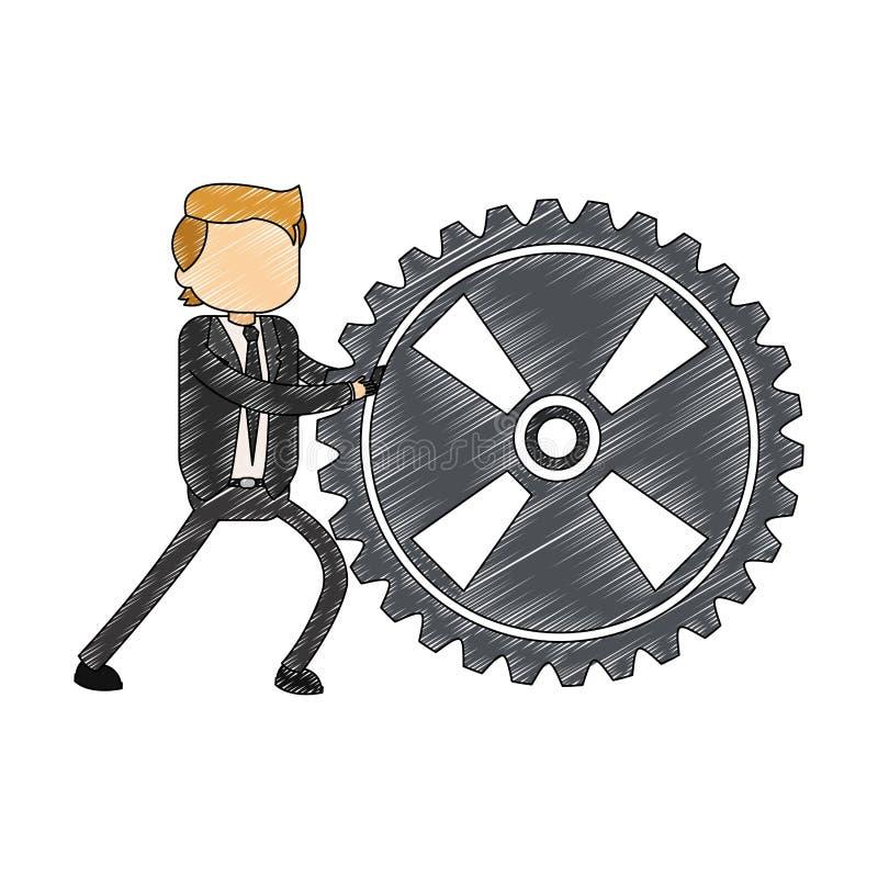 Κακογραφία εργαλείων εκμετάλλευσης επιχειρηματιών διανυσματική απεικόνιση
