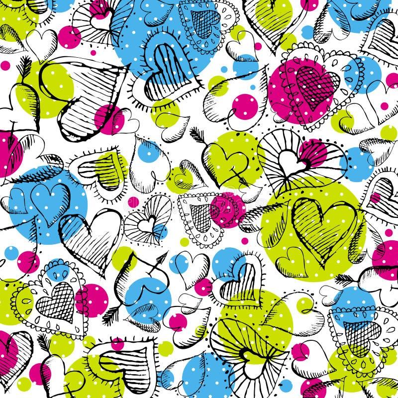 κακογραφία καρδιών ανασ&ka διανυσματική απεικόνιση