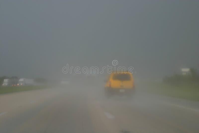 κακός οδηγώντας καιρός στοκ εικόνες
