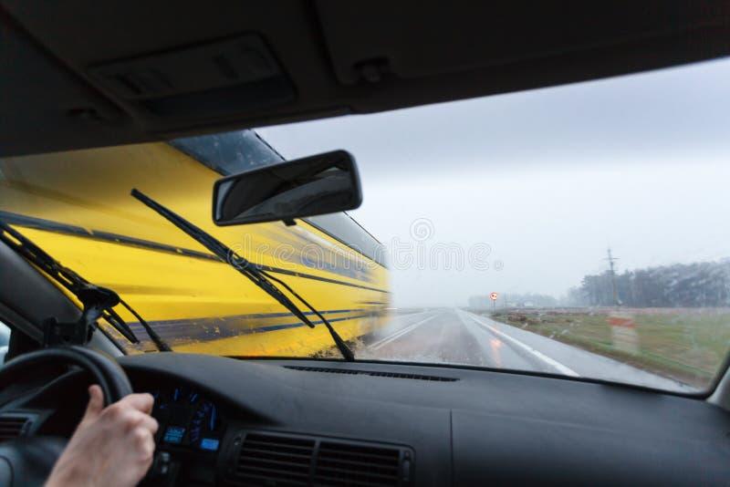 κακός οδηγώντας καιρός στοκ φωτογραφία