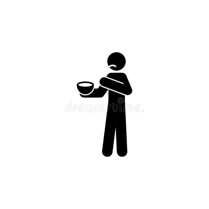 κακό εικονίδιο τροφίμων Στοιχείο του αρνητικού εικονιδίου χαρακτήρα ατόμων για την κινητούς έννοια και τον Ιστό apps Το λεπτομερέ ελεύθερη απεικόνιση δικαιώματος
