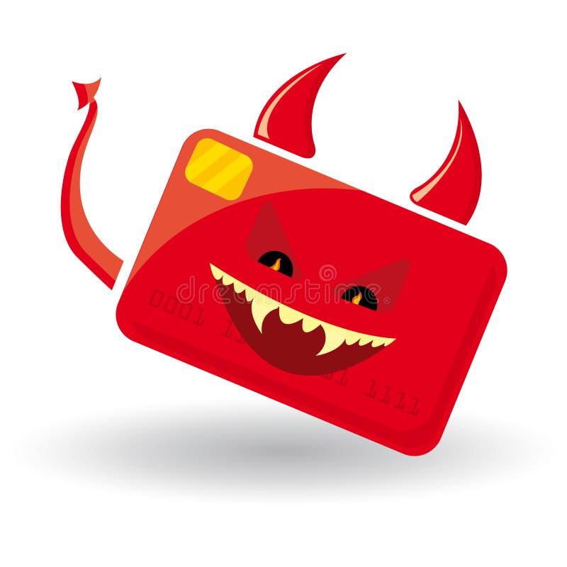κακό καρτών cedit απεικόνιση αποθεμάτων