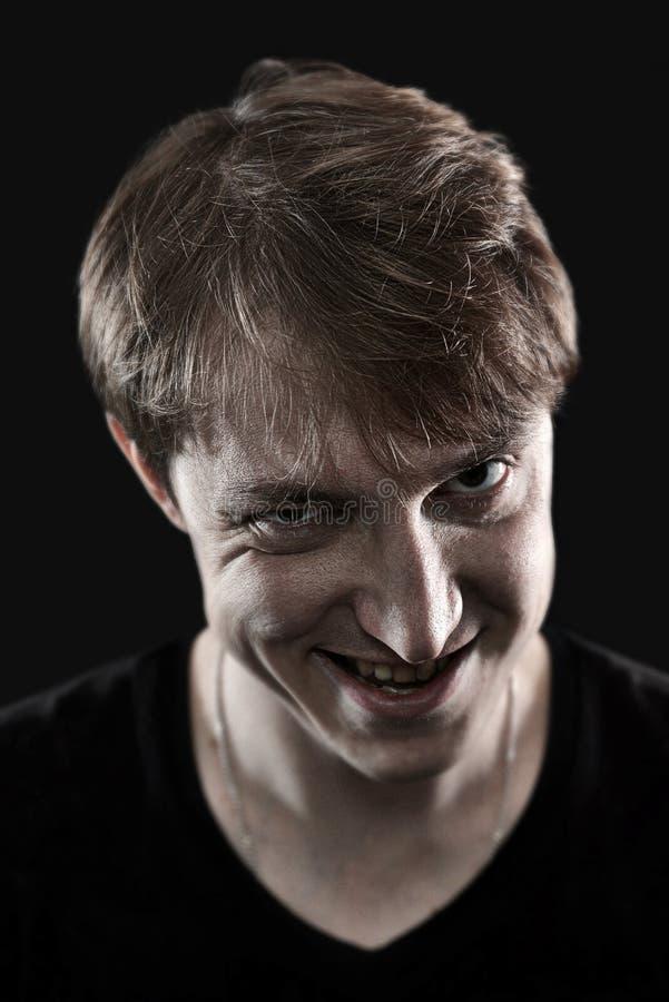 Κακό πορτρέτο ατόμων στοκ φωτογραφία