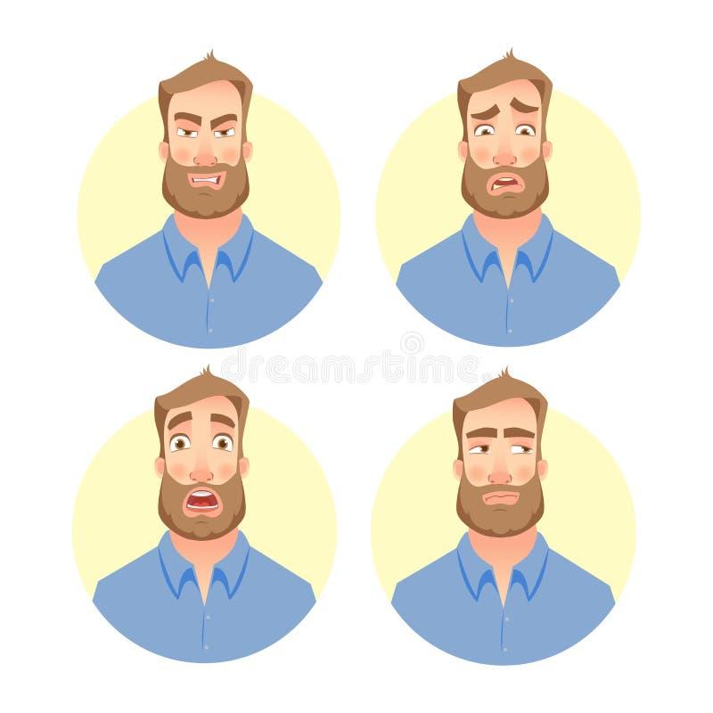 Κακό πρόσωπο του ατόμου - σύνολο ελεύθερη απεικόνιση δικαιώματος