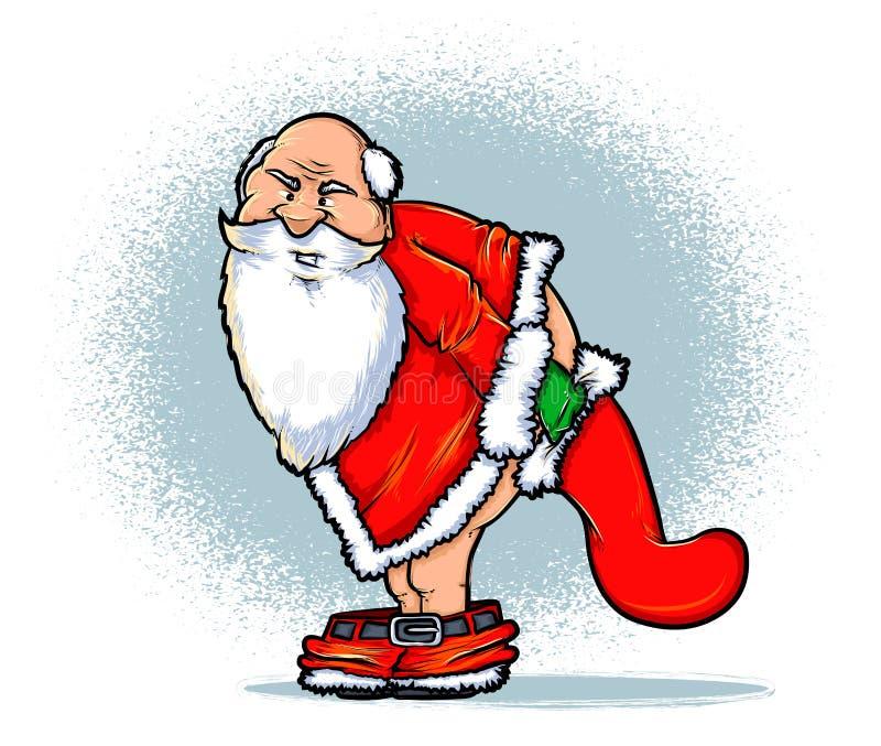 Κακό Santa απεικόνιση αποθεμάτων