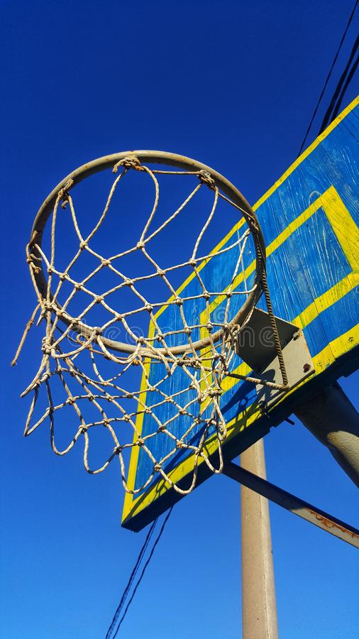 Καλάθι καλαθοσφαίρισης στοκ φωτογραφίες με δικαίωμα ελεύθερης χρήσης