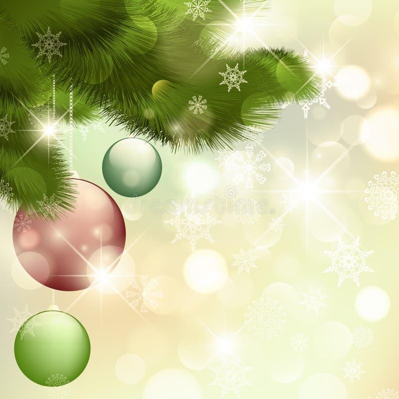 Καλά Χριστούγεννα και καλή χρονιά! διανυσματική απεικόνιση