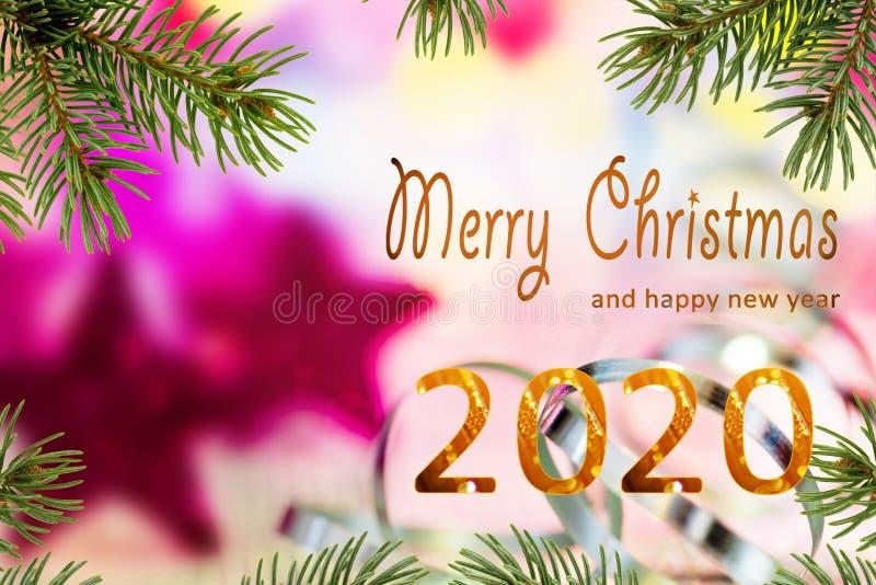 Καλά Χριστούγεννα 2020 στοκ φωτογραφία με δικαίωμα ελεύθερης χρήσης