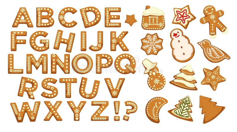 Καλές διακοπές, πηγή επιστολών Χριστουγέννων abc, γραφικό διάνυσμα σχεδίου ελεύθερη απεικόνιση δικαιώματος