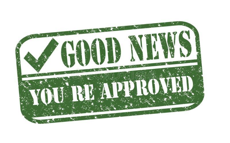 Καλές ειδήσεις σφραγιδών εγκεκριμένες απεικόνιση αποθεμάτων