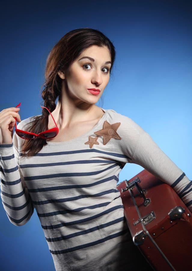 καλή αναδρομική γυναίκα πορτρέτου στοκ φωτογραφία με δικαίωμα ελεύθερης χρήσης