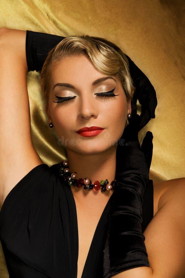 καλή αναδρομική γυναίκα π& στοκ εικόνες