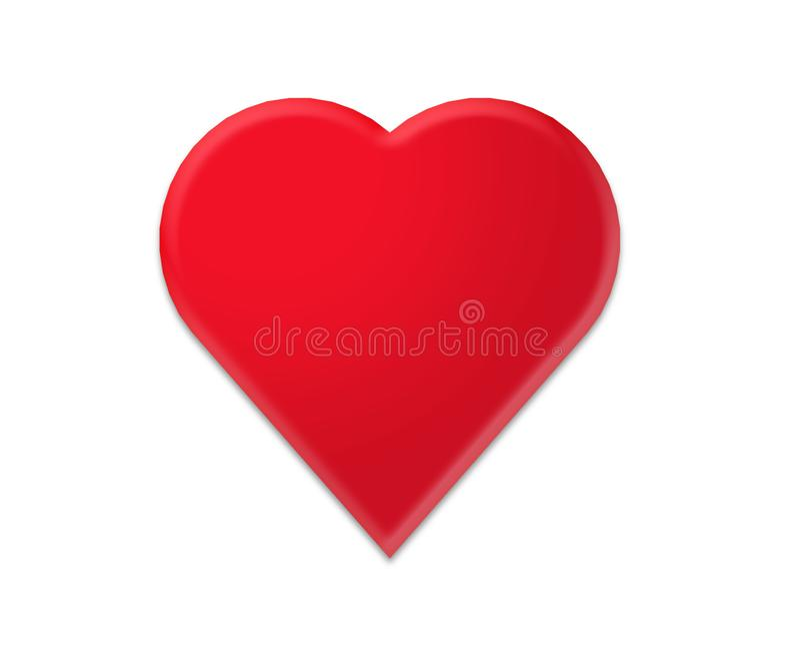 Καλή κόκκινη καρδιά Clipart διανυσματική απεικόνιση