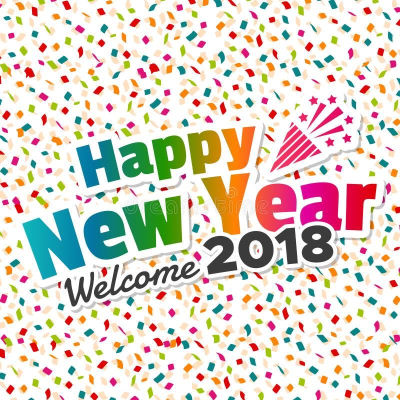Καλή χρονιά - ευπρόσδεκτο το 2018 διανυσματική απεικόνιση