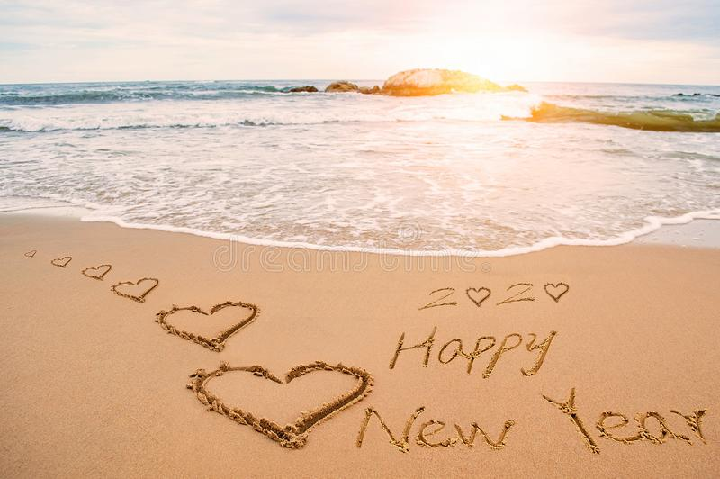 Καλή χρονιά 2020 και καρδιά αγάπης στοκ εικόνες με δικαίωμα ελεύθερης χρήσης