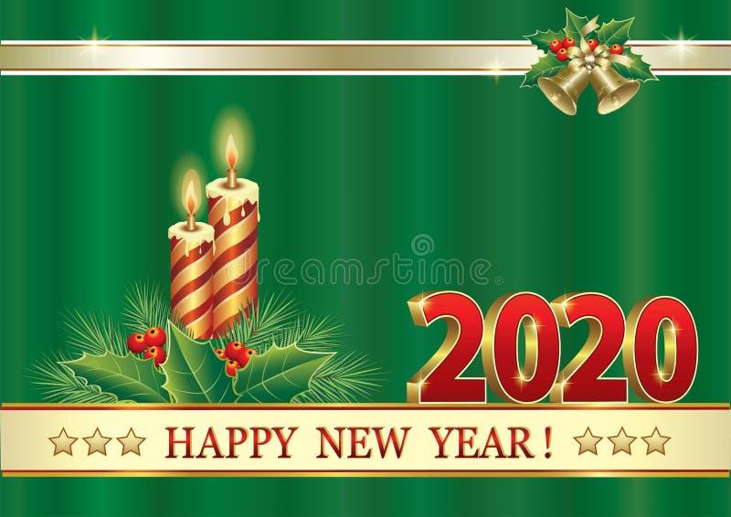 2020 καλή χρονιά και υπόβαθρο Χαρούμενα Χριστούγεννας r ελεύθερη απεικόνιση δικαιώματος