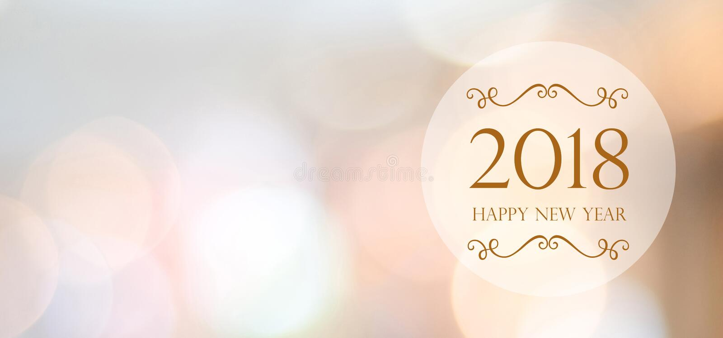 Καλή χρονιά 2018 στο αφηρημένο υπόβαθρο bokeh θαμπάδων με το αντίγραφο