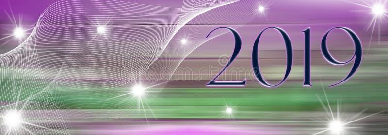 Καλή χρονιά 2019 ελεύθερη απεικόνιση δικαιώματος