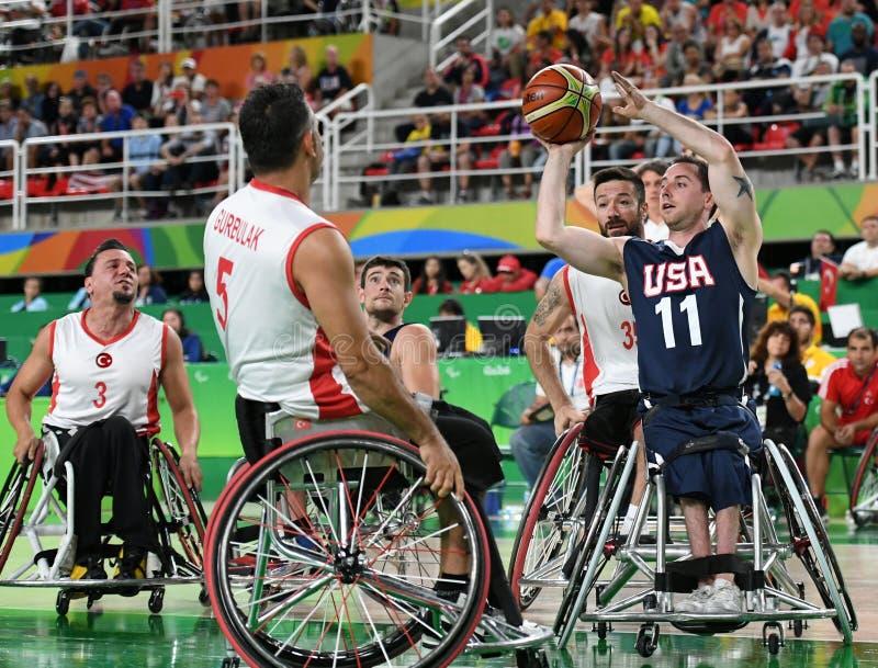 Καλαθοσφαίριση παιχνιδιών 2016 Paralympics στοκ εικόνα με δικαίωμα ελεύθερης χρήσης