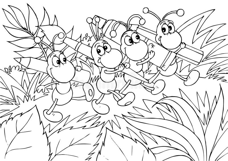 καλλιτέχνες μυρμηγκιών ελεύθερη απεικόνιση δικαιώματος
