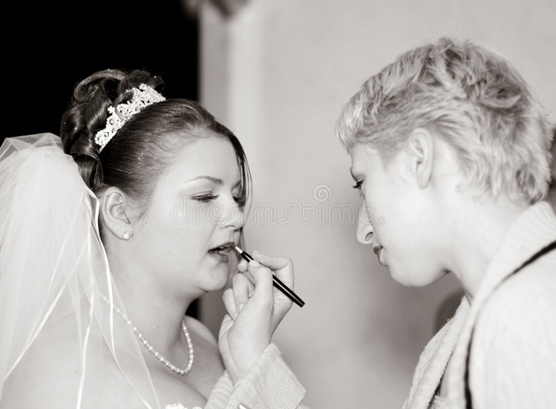 Download καλλιτέχνης makeup στοκ εικόνα. εικόνα από νυφών, brunhilda - 64197