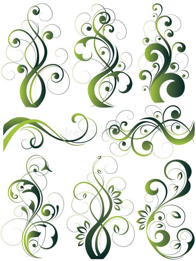 καλλιτεχνικά σχέδια flowery ελεύθερη απεικόνιση δικαιώματος