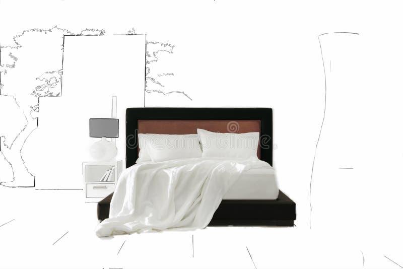Καλλιτεχνική ανασκόπηση κρεβατοκάμαρων στοκ εικόνες με δικαίωμα ελεύθερης χρήσης
