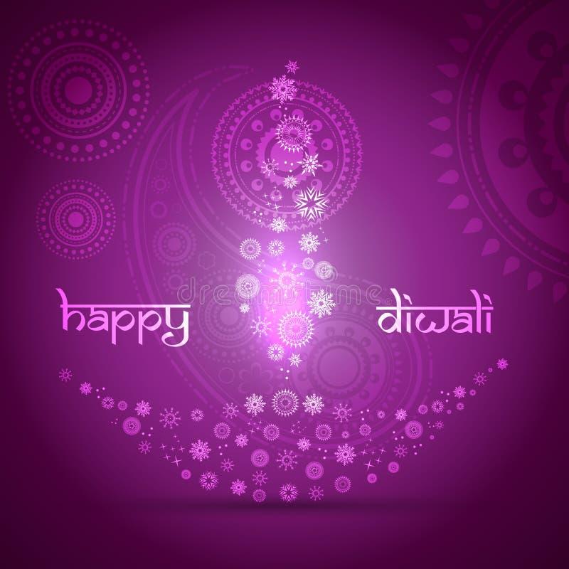 Καλλιτεχνική ανασκόπηση diwali διανυσματική απεικόνιση