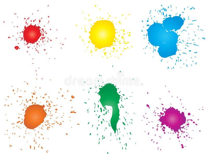 Καλλιτεχνική βρώμικη πτώση χρωμάτων, χέρι - γίνοντας δημιουργικός παφλασμός ελεύθερη απεικόνιση δικαιώματος
