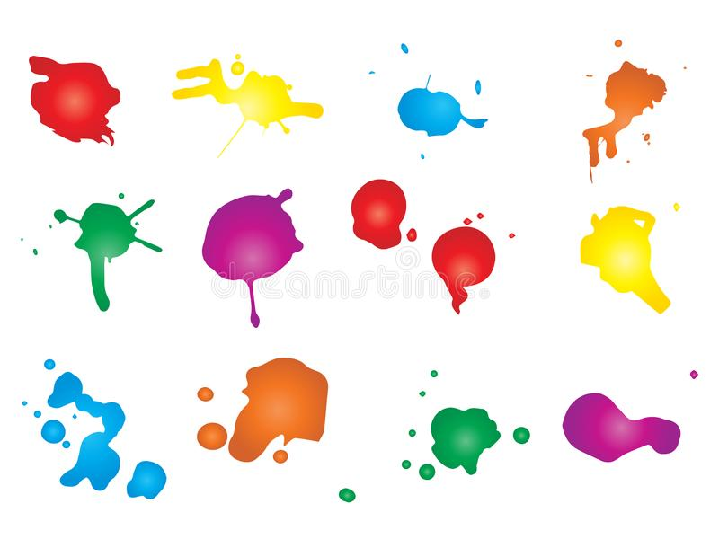 Καλλιτεχνική βρώμικη πτώση χρωμάτων, χέρι - γίνοντας δημιουργικός παφλασμός απεικόνιση αποθεμάτων