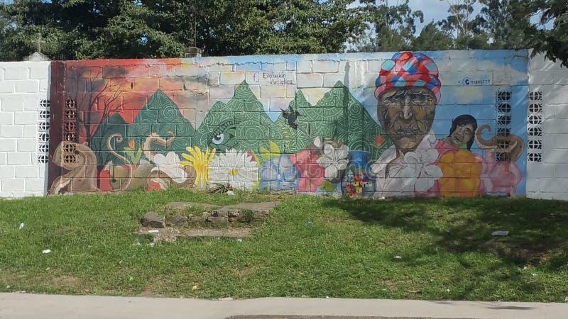 Καλλιτεχνική εξέλιξη - Siguatepeque, ασβέστιο της Ονδούρας στοκ εικόνα