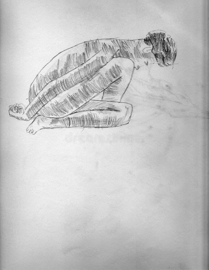 Καλλιτεχνική Nude γυναίκα στοκ φωτογραφία με δικαίωμα ελεύθερης χρήσης