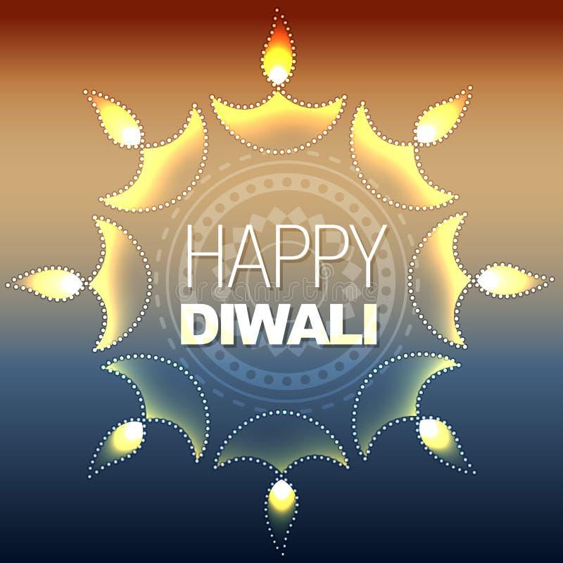 Καλλιτεχνικό ευτυχές diwali διανυσματική απεικόνιση