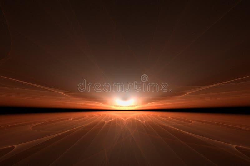 καλλιτεχνικό ηλιοβασί&lambda διανυσματική απεικόνιση