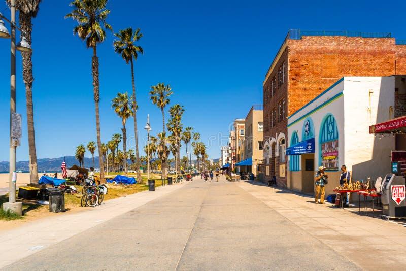 Καλλιτεχνικό κλίμα της παραλίας της Βενετίας στοκ φωτογραφία με δικαίωμα ελεύθερης χρήσης