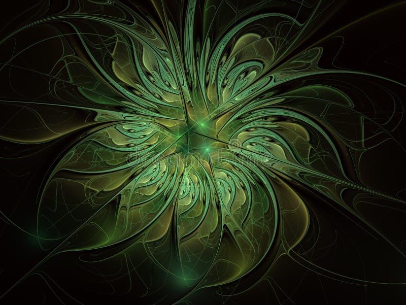 Καλλιτεχνικό λουλούδι φαντασίας με την επίδραση φωτισμού απεικόνιση αποθεμάτων
