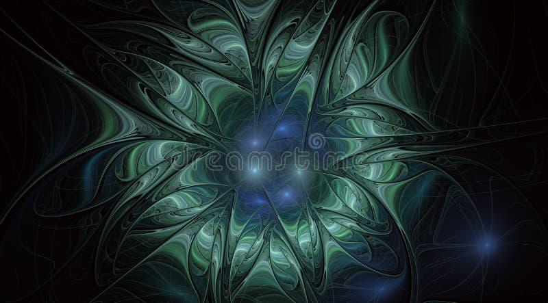 Καλλιτεχνικό λουλούδι φαντασίας με την επίδραση φωτισμού ελεύθερη απεικόνιση δικαιώματος