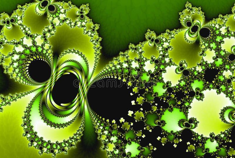Καλλιτεχνικό λουλούδι φαντασίας Όμορφο λαμπρό φουτουριστικό υπόβαθρο διανυσματική απεικόνιση