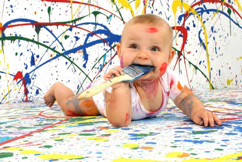 καλλιτεχνικό μωρό στοκ εικόνες