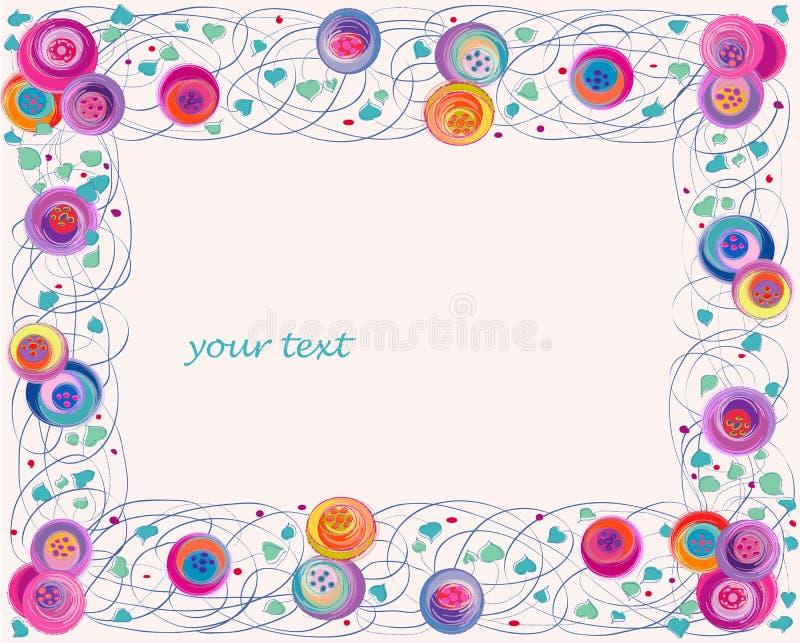 Καλλιτεχνικό πλαίσιο λουλουδιών ελεύθερη απεικόνιση δικαιώματος