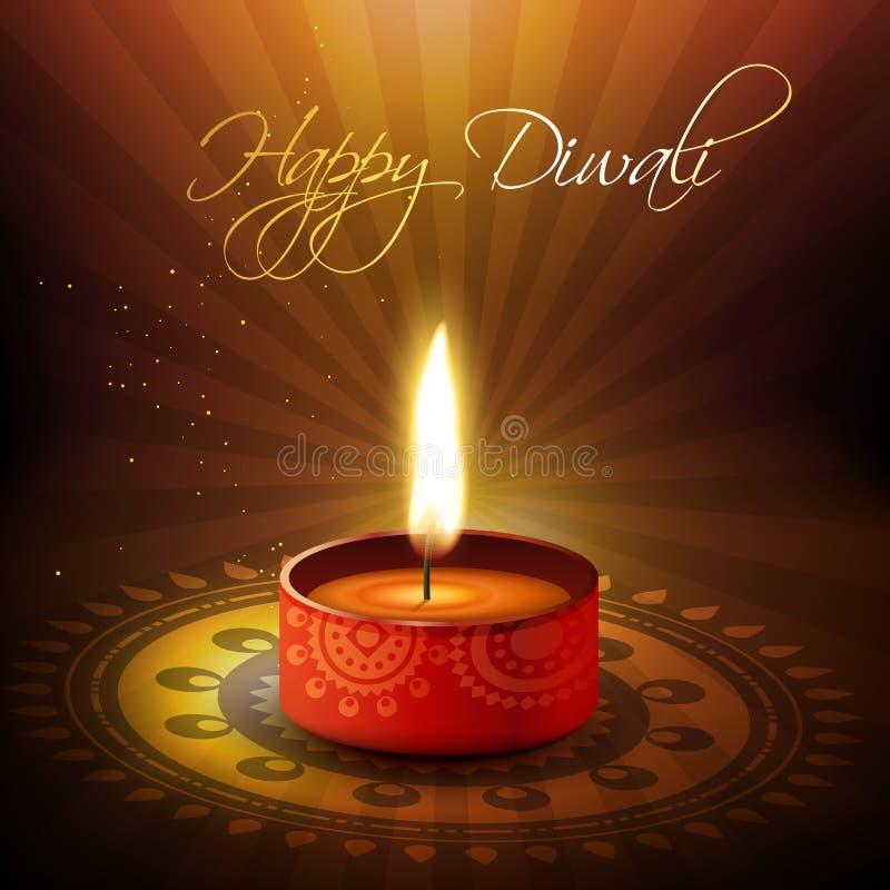 Καλλιτεχνικό diya diwali απεικόνιση αποθεμάτων