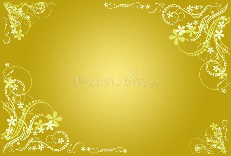 καλλιτεχνικό floral πλαίσιο ocher στοκ εικόνες