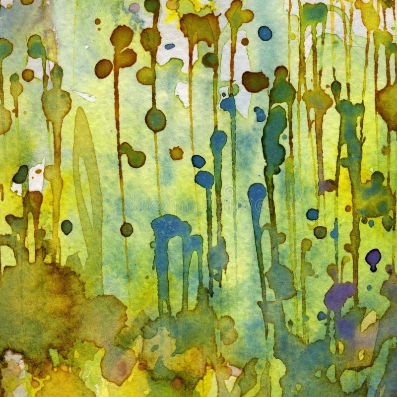 Καλλιτεχνικό watercolor ανασκόπησης διανυσματική απεικόνιση