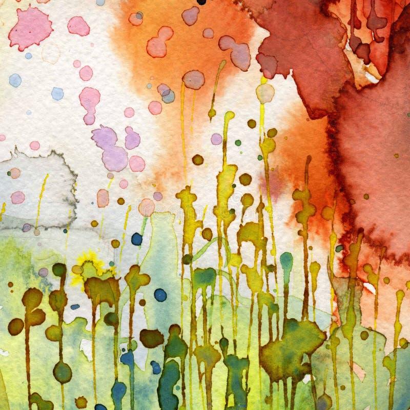 Καλλιτεχνικό watercolor ανασκόπησης απεικόνιση αποθεμάτων