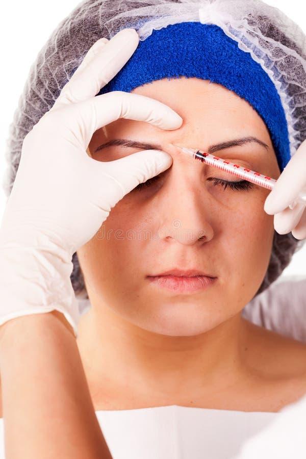 Καλλυντικές εγχύσεις Botox διαδικασίας στοκ εικόνες