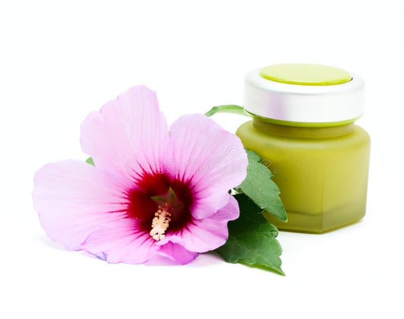 καλλυντικό βάζο λουλο& στοκ εικόνες